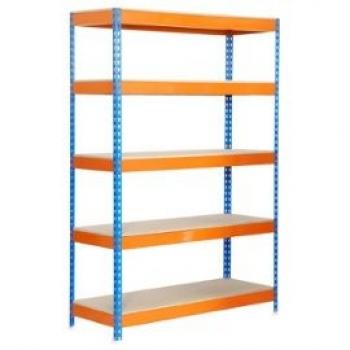 rayonnage-de-stockage-bois-metal-2000x1000x450mm-bleu-orange-5-niveaux-agglo-300kg-niv-en-kit-1131617029_ML